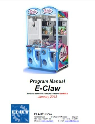 ELAUT E-Claw Program Manual - Technical - Crane PlayCOS